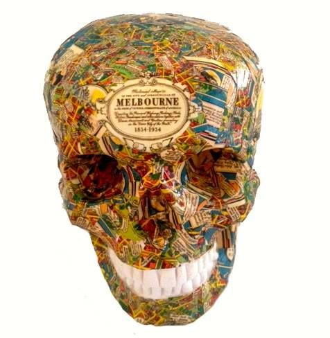 My new fav place in Australia - Melbourne - these Melbourne skulls are hand made by Skullamour