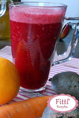 Hozzávalók a cékla-répa-narancs turmixhoz  • 1 közepes cékla • 1 nagy édes narancs • 1 közepes sárgarépa • fahéj • víz