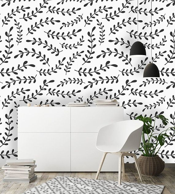 Removable Wallpaper Mural Peel Stick Black And White Etsy Peel And Stick Wallpaper Removable Wallpaper Wallpaper Roll