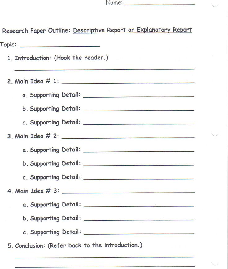 Outline Descriptive Essay
