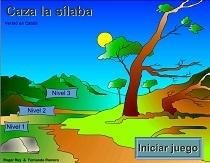 Caza la sílaba - juego de dividir una palabra en sílabas.  En español .