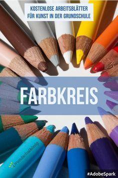 Arbeitsblätter, Übungen und Aufgaben zum Thema Farbkreis in Kunst in der Grundschule #primärfarben #sekundärfarben #grundschulkönig #Grundschule #Kunst #farbkreis