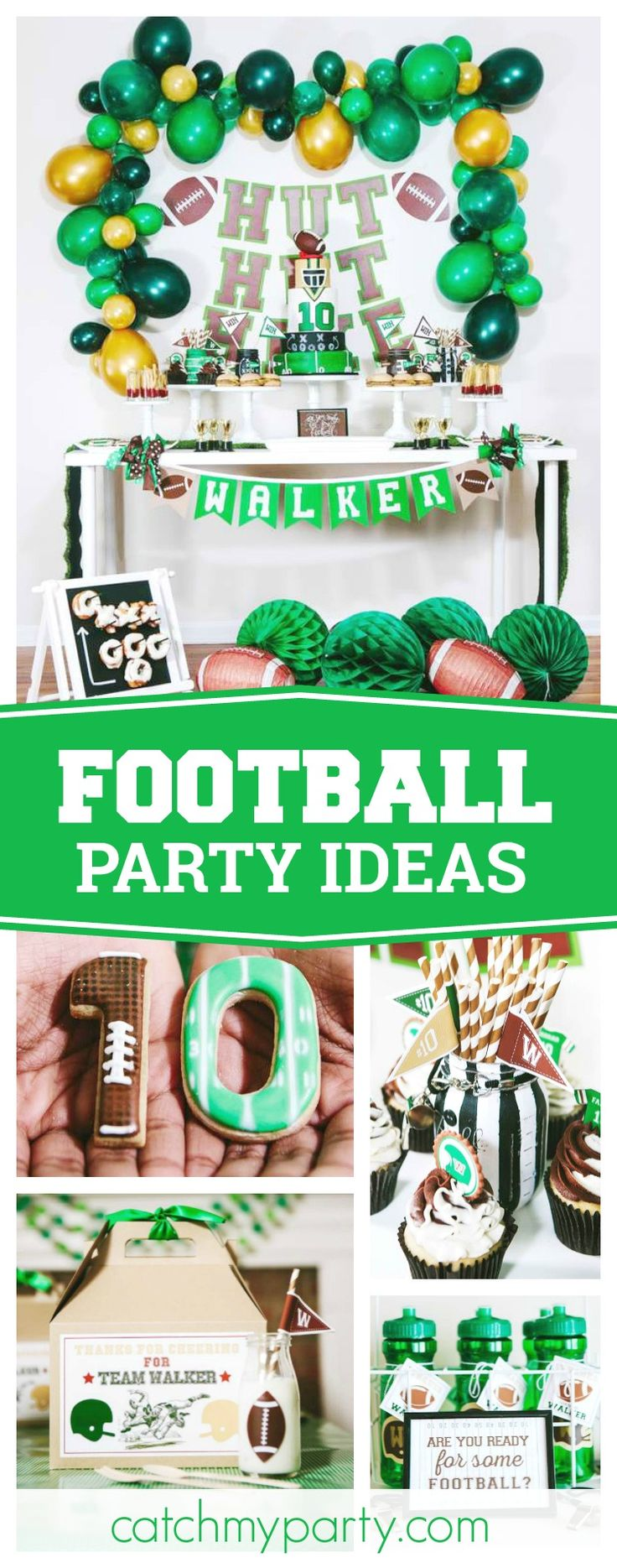 Check out this awesome Football themed birthday party. The dessert table is so cool!! See more party ideas and share yours at CatchMyParty.com