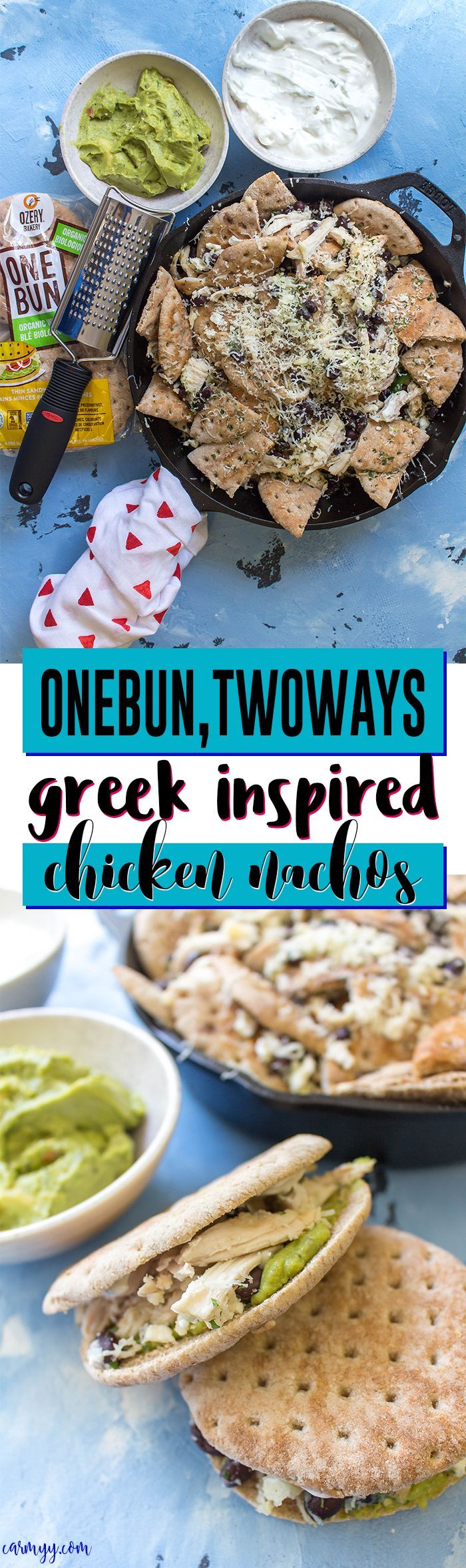 This Greek Inspired Chicken Nachos dish is fun and…
