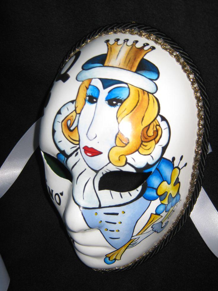 Venetian Artistic Mask dedicated to the Casinò of Venice. www.artjennifer.wordpress.com   #Venezia #Maschere #Venice #Masks #ArtisticMasks #VenetianMasks #Art #AcrilicPaintings #Carnival #JenniferEgista #CasinoOfVenice