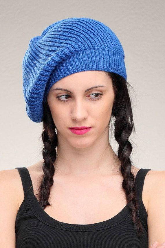 Beret knit hat