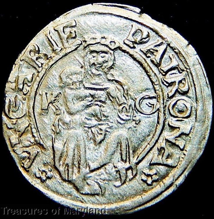 EXCELLENT! 1516 MARY HOLDING BABY JESUS HUNGARIAN DENAR sku #EM1