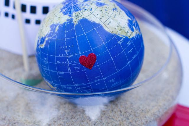 Around The World Party Centerpieces