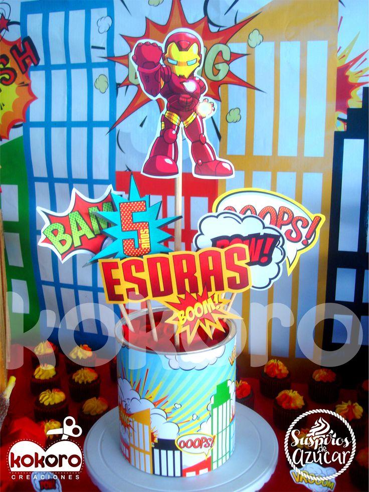 FIESTA DE IRON MAN www.facebook.com/kokorocreaciones, Colima, Col. cel 3121420083