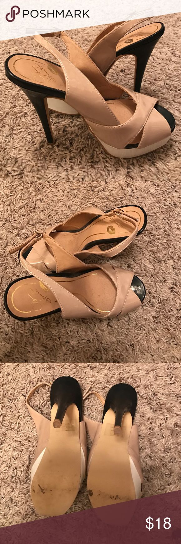 Colin Stuart Peep Toe High Heels Black, white and nude colors. Great condition. Colin Stuart Shoes Heels