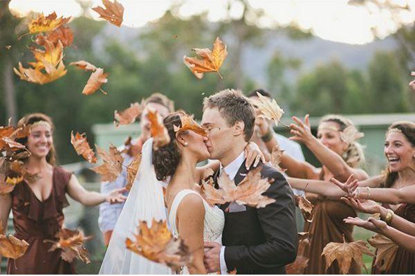 Fall leaves for #fallwedding #sendoff
