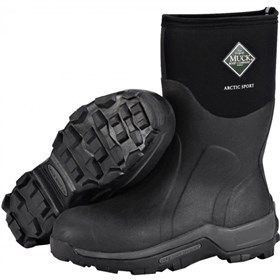 Muck Boots Unisex Arctic Sport Mid Black  is a lighter version compared to the Arctic Pro with a 5mm layer of CR Flex-Foam, the Arctic Sport, will still keep wearers warm to minus 40 degress while standing deep in snow or slush.