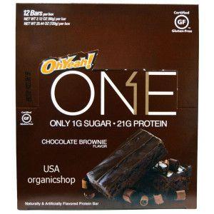Протеиновые батончики Oh Yeah!, One, Chocolate Brownie Flavor, 12 Bars, 2.12 oz (60 g) Each со вкусом шоколадного брауни