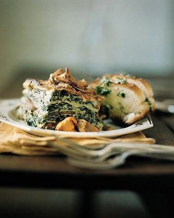 Wild Mushroom and Spinach Lasagna Recipe