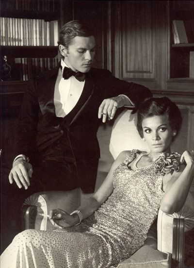 Florinda Bolkan and Helmut Berger in 'The Damned'(original title:'La caduta degli Dei'), directed by Luchino Visconti - 1969.