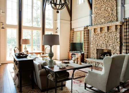 Modern Lakehouse Living room