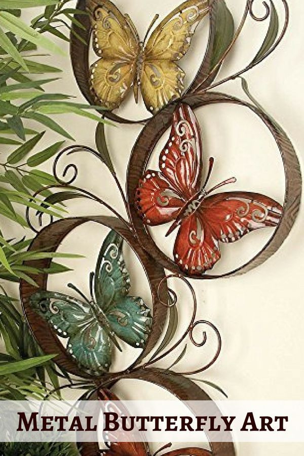 Vibrant Unique And Trendy Metal Butterfly Wall Art Modern Wall