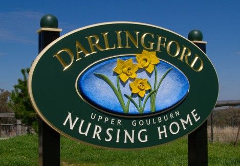 Darlingford Aged Care Sign | Danthonia Designs