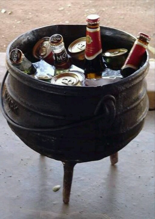 Here's a different use for your potjie - remember to line it first to avoid rust.