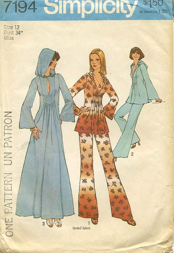 VINTAGE 1975 Sewing PATTERN Simplicity Wide by FabulousFabricFinds