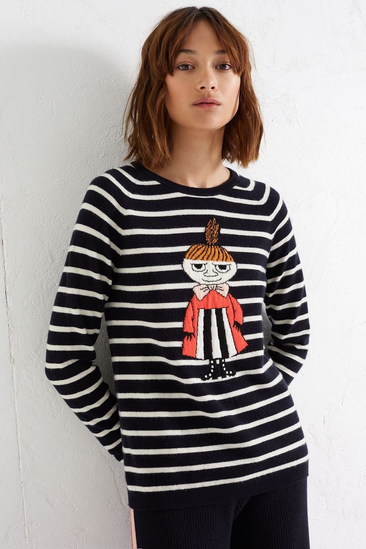 Navy Little My Breton Cashmere Sweater