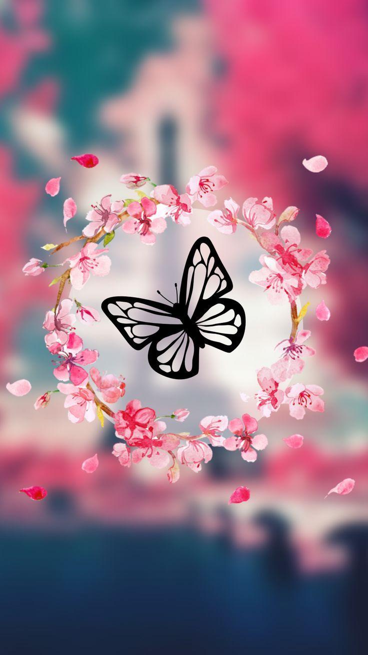 Butterflyy Flower Phone Wallpaper Beautiful Wallpapers Backgrounds Happy Wallpaper