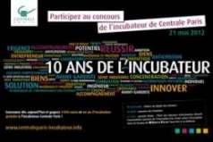 Centrale Paris lance un concours de projets innovants. Dossier à déposer avant le 10 avril 2012.