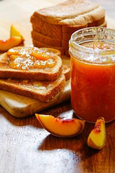 Homemade Ginger Peach Jam - Henry Happened
