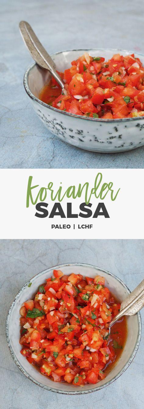 Recept: Hemmagjord koriander-salsa. Paleo / LCHF