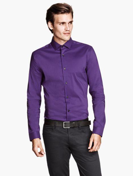 Men | Shirts | H&M US Purple