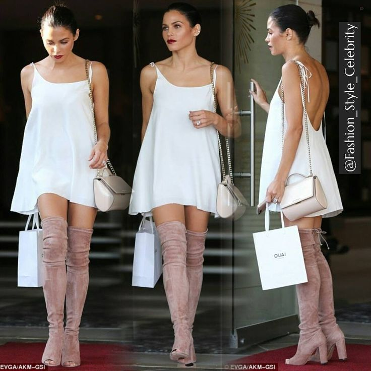#JennaDewan  #chic #beautiful #socialite #boots #highboots #channingtatum #shopping #sunglasses #coffee #white #lwd #whitedress #colourful #floral #wow #model #dance #dancer #clothing #supermodel #beauty #makeup... - Celebrity Fashion
