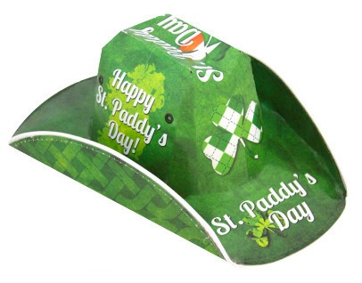 St. Paddy's Day Cowboy Beer Box Hat