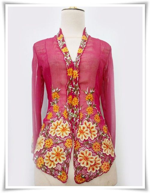 Kebaya Nyonya Pink - KNP378 [Kebaya Nyonya KNP] - RM135.00 ...