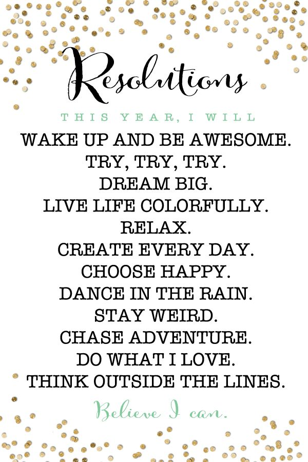 Free Printable New Years Resolution Motivators