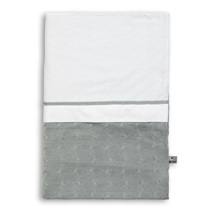Cable Uni - Duvet cover 135x100 - grey  by Baby's Only - www.babysonly.nl