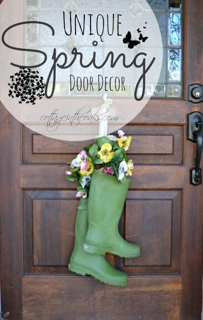 Unique Spring Door Wreaths