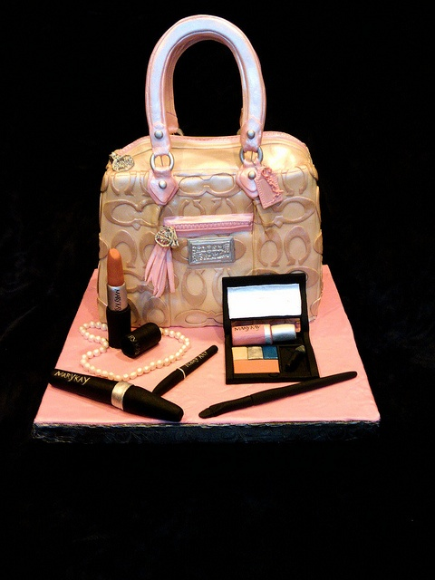 coach purse cake  with  edible makeup by Cake Rhapsody, via Flickr