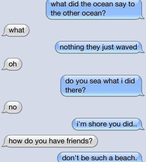 LolFunny Texts, Cheesy Jokes, Laugh, Funnytexts, Funny Pictures, The Ocean, Funny Stuff, Humor, Beach