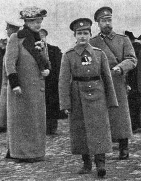 Tsar, Tsarina and Tsarevich.