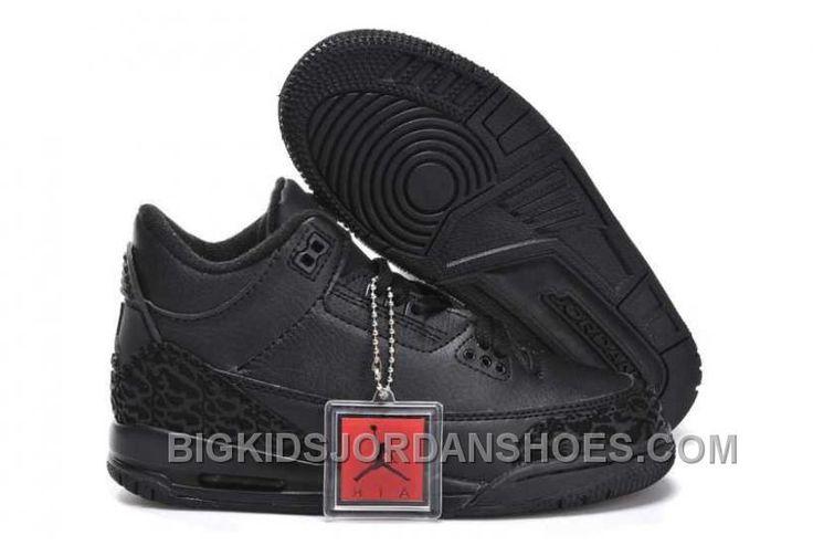 http://www.bigkidsjordanshoes.com/hot-nike-air-jordan-3-kids-all-black-shoes.html HOT NIKE AIR JORDAN 3 KIDS ALL BLACK SHOES Only $0.00 , Free Shipping!