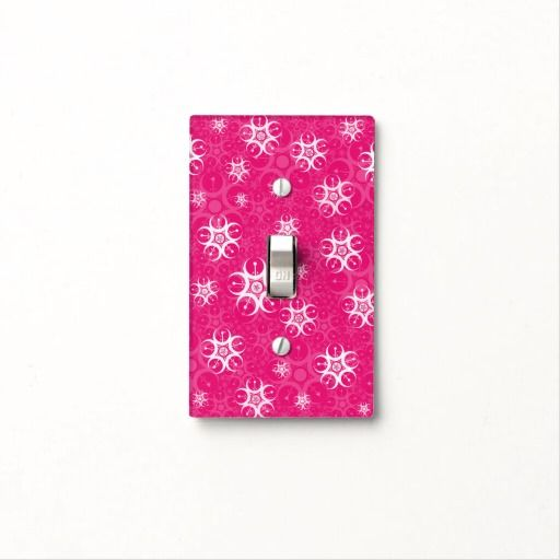 Pink Crop Circle Light Switch Cover