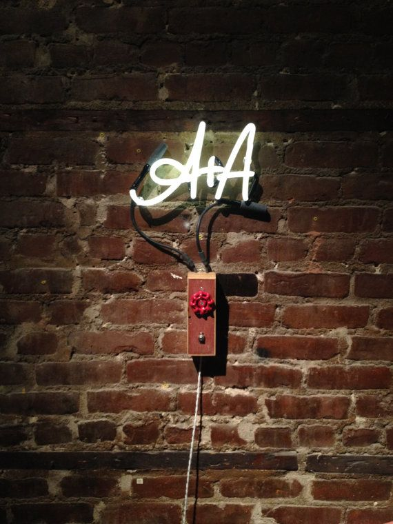 Your Handwritten Initials In Neon  - Custom Neon Sign - I totally want this.