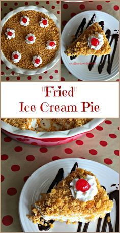 """""""Fried"""" Ice Cream Pie - completely MIND BLOWN that this pie tastes JUST like Mexican Fried Ice Cream from the restaurant. NEW favorite recipe! - an affair from the heart"""