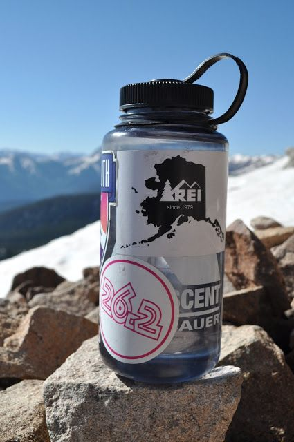 [field notes] see what stickers are on my Nalgene water bottle...