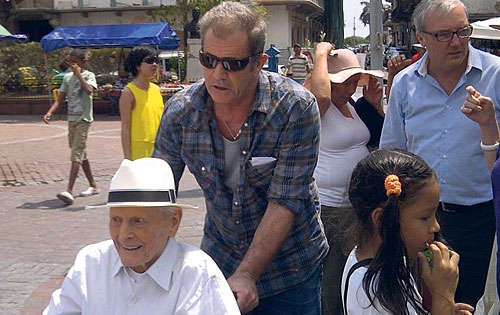Mel Gibson and his father, Hutton Gibson, continue to enjoy the sights in Panama. March 2012