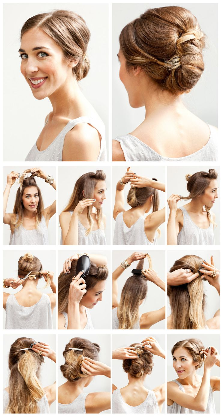 White and Gold Wedding. Bridesmaid Hair. Natural Hair. Chignon Updo tutorial. How do they make it look so easy??