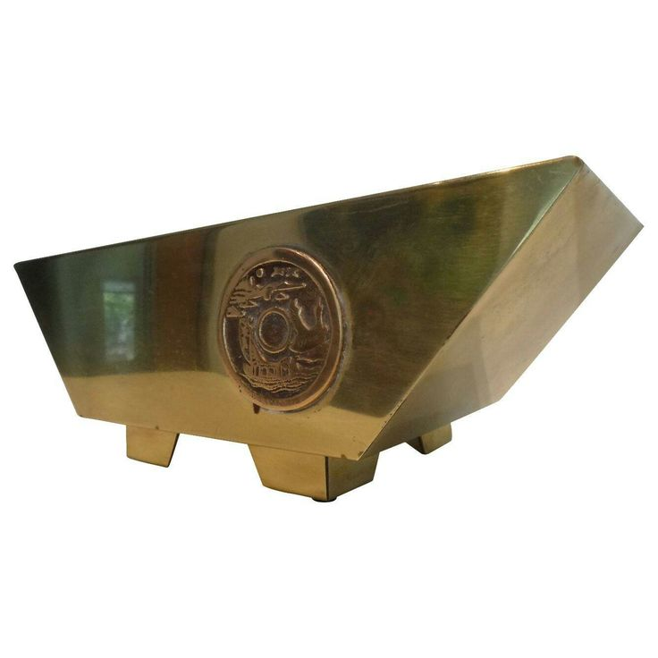 Brass Midcentury Tabletop Planter