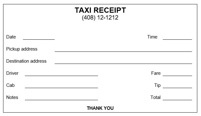 16 Free Taxi Receipt Templates Make Your Taxi Receipts Easily Within Blank Taxi Receipt Template Receipt Template Invoice Template Invoice Template Word