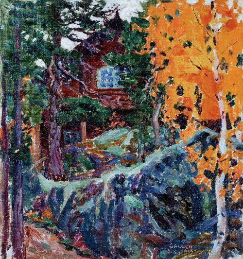 Akseli Gallen-Kallela (1865-1931) - Kalela in Autumn