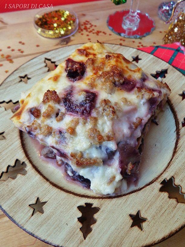 Oggi voglio mostrarti la mia lasagna al forno con radicchio rosso e salsiccia.Primo piatto goloso e delicato che unisce due ingredienti, come radicchio